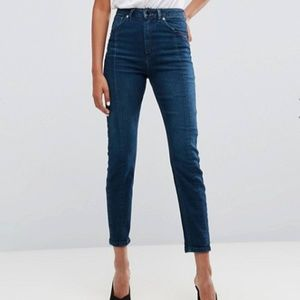 ASOS Farleigh High Waisted Slim MOM Jeans Sz 26